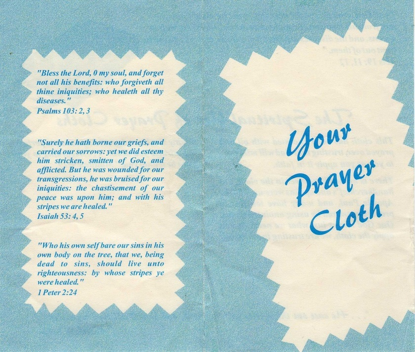 Prayer Cloths and Faith Healers